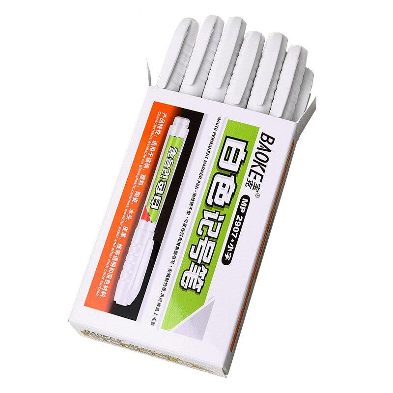 Baoke MP2907 branco marcador arte publicidade gancho linha de marcação única cabeça caneta Marca oleosa