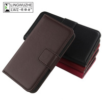LINGWUZHE Mobile Phone Case Genuine Leather Wallet Cover For Huawei Google Nexus 6P 5 7