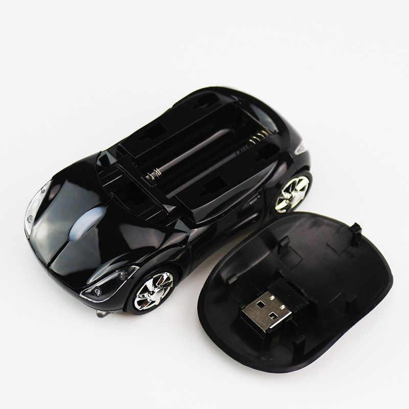 Sovawin 1200 ديسيبل متوحد الخواص 2.4G ماوس لاسلكي صغير على شكل سيارة ماوس USB الفئران البصرية LED أضواء لأجهزة الكمبيوتر المحمول الكمبيوتر المنزل مكتب استخدام