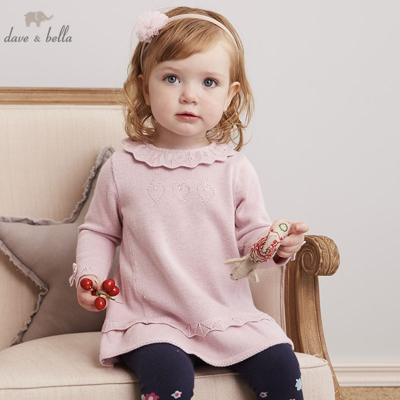 Pettigirl Dark Blue Girls Autumn Grid Dresses with Headwear Rhombus Decal Girl Dress Boutique Baby Clothes