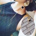2016 мода жемчужные серьги Нерегулярные темперамент металла мяч кисточкой длинные серьги панк хип-хоп серьги женских украшений