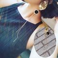 2016 de la moda pendientes de perlas temperamento Irregular de metal bola de pendientes largos de la borla del punk hip hop pendientes de gota de la joyería femenina