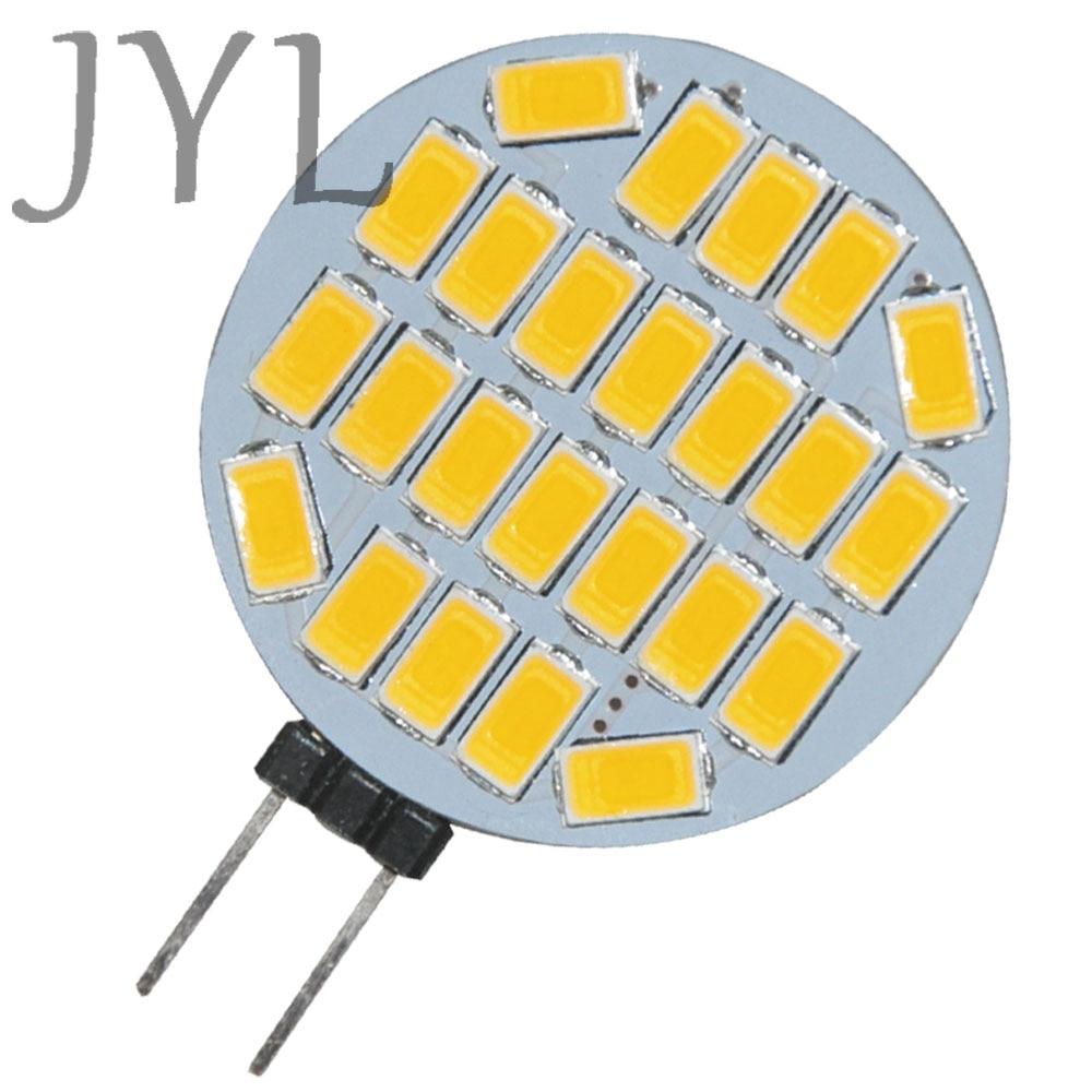 JYL 1 X Bright G4 3Watt 24 SMD 5730 LED Boat Spot Light Home Bulb Warm White 360LM