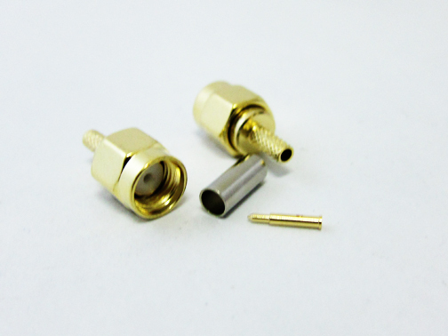 SMA  Connector SMA Male Connector  For RG316 RG174 Cable Wire Connector RF Adapter