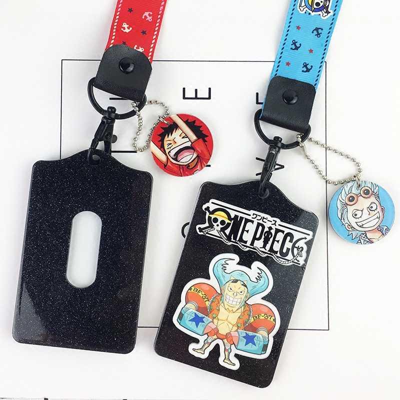 Ручной веревочный брелок, автобус, карта, набор IC, покрытие для карт, акрил, аниме, пират, ученик, рисовая карта, набор