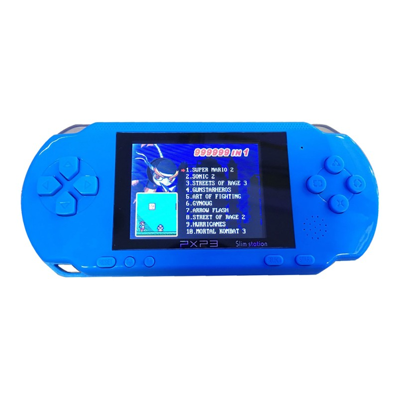 3 Inch 16 Bit PXP3 Slim Station Video Games Player Handheld Game +Free Game Card Console built-in 150 Classic Games