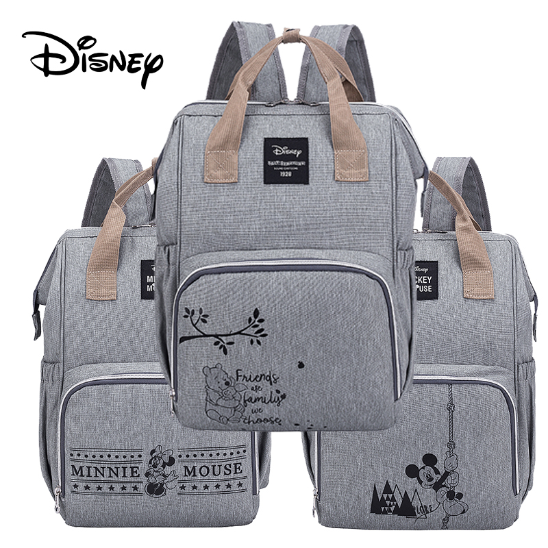 Disney Mummy Nappy Bag Multi-function Large Capacity Stroller Diaper Bags Waterproof Backpack For Mom Baby Care Travel Backpack
