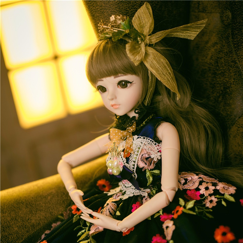Fashion BJD 1/3 Dolls For Girl With Clothes Wigs Shoes Makeup Silicone 100% Handmade Educational Reborn Doll Toys For Children
