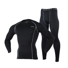 Quick Dry Men Ski Jacket and Pants Thermal Skiing Underwear Set Men Long Johns For Ski/Riding/Climbing/Cycling