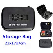 Sj4000 profissional saco da câmera à prova d' água à prova de choque de proteção caso portátil para gopro hero 4 3 2 3 + go pro acessórios