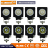 10W USA Chip Motor Bicycle Spot LED Work Light Square 30 Degree For Cabin Boat SUV