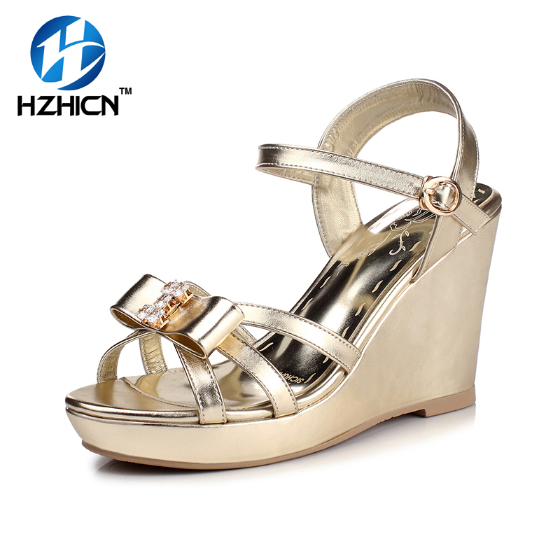 ФОТО 2017 New Women Wedges Sandals Women's Platform Sandals Fashion Summer Shoes Women Casual Shoes Free Shipping HZHICN