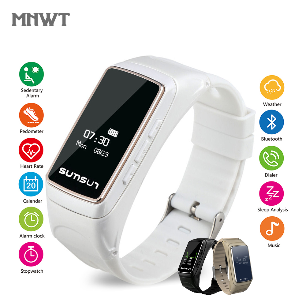 Original MNWT Watch B7 Smart Sports Watches & Headset Function Wristwatches Women Men Multi functional bracelet For iOS Android|Women's Watches| |  - title=