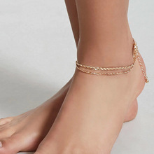 Simple Fashion Foot Chain Charm Anklets for Women Summer Beach Multilayer Barefoot Anklet Bracelet Jewelry chic multilayer small bells anklet for women
