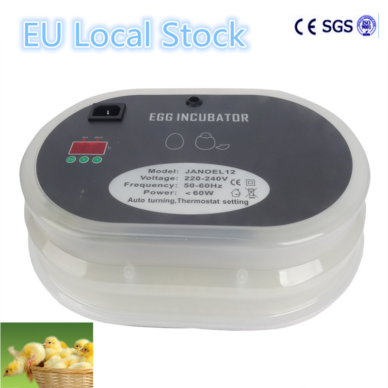 Small Brooder 12 Eggs Incubator China Cheap Mini Poultry Hatchery Machine For Chicken Duck Birds china newest brooder automatic 48 eggs incubator hatchery auto hatchers machine indicator light
