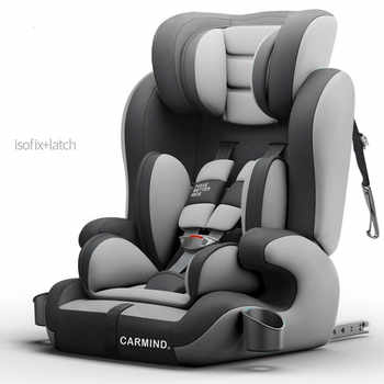 2019 CARMIND Child car safety seat with cup holder isofix soft interface car seats for 1-12 years old 9-36KG car seats - DISCOUNT ITEM  40% OFF All Category
