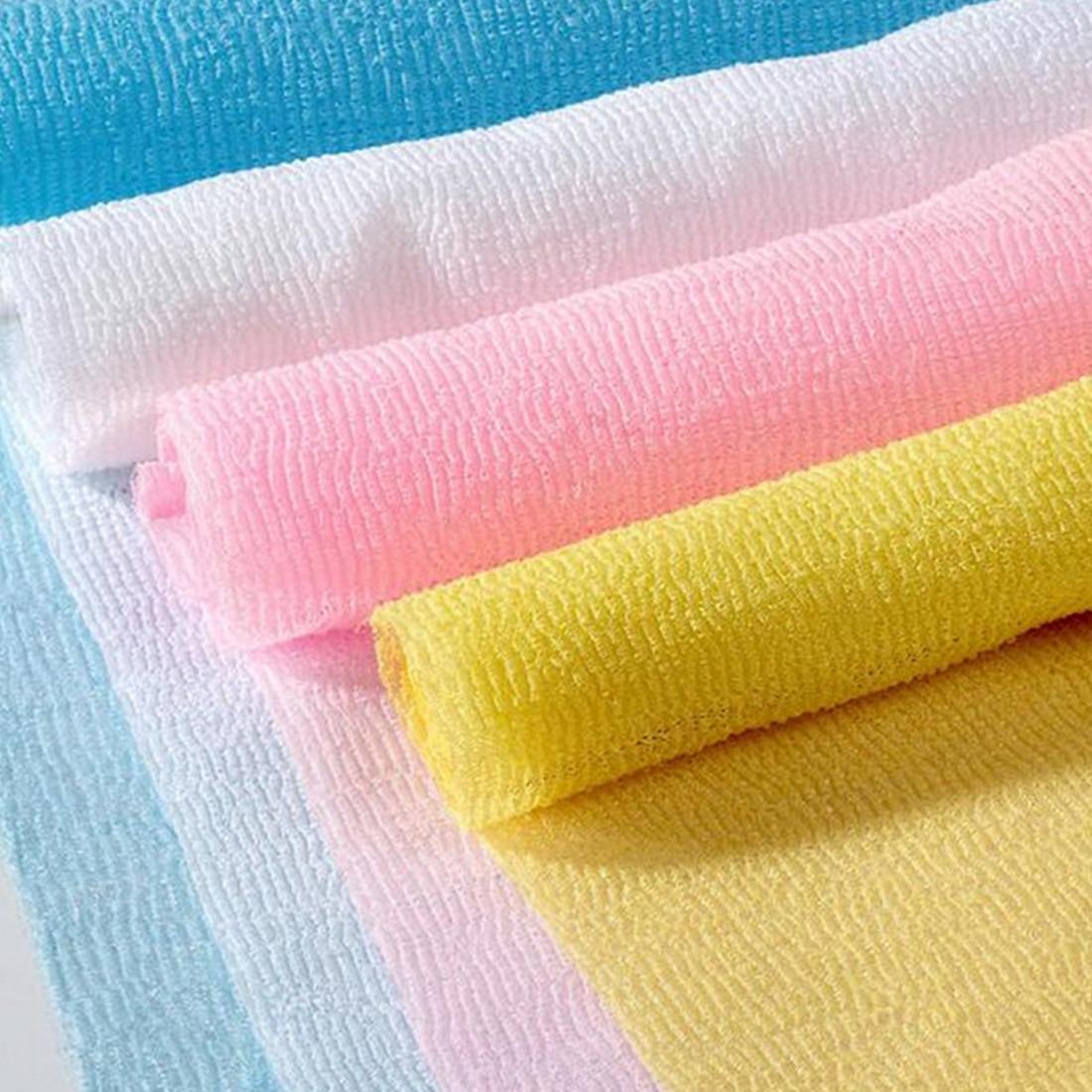 Hot Nylon Scrubbing Cloth Towel Bath Shower Body Cleaning Washing Sponges Scrubbers Bathroom Tool