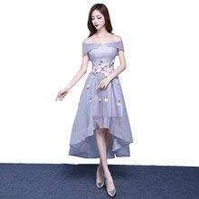 MDBRIDAL Silber Farbe Halb Formale Abendkleider und Weg Schulter High Low Kurzes Kleid ferien Benutzerdefinierte Größe