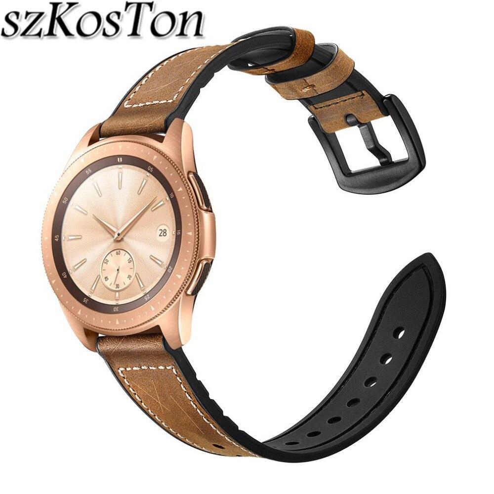 d0800647796 20mm 22mm Cinto Cinta de Couro Relógio de Pulso de Silicone para Samsung  Galaxy Relógio 46mm 42mm Faixa de Relógio cinta para o Relógio Galáxia 42mm