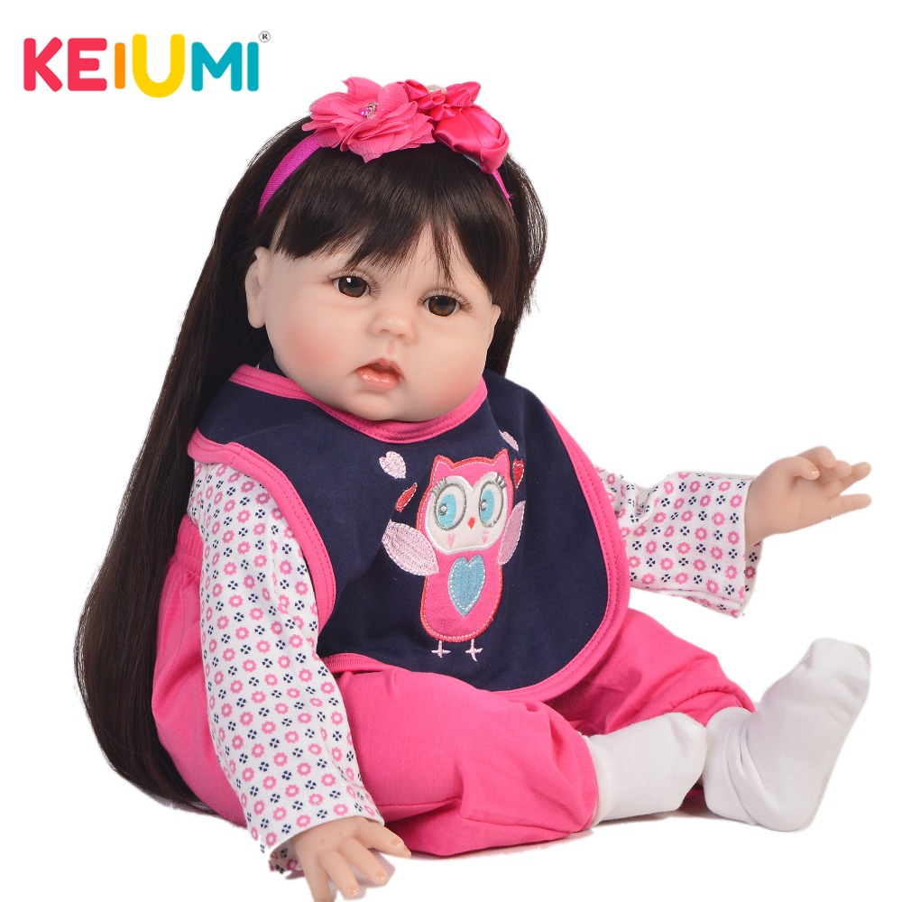 KEIUMI Princess 22 Inch Newborn Baby Doll Cloth Body Realistic Cute Baby Doll Toy For Children's Day Kid Christmas Xmas Gifts keiumi cute 22 inch reborn baby doll cloth body realistic fashion princess baby doll toy for children s day kid xmas gifts