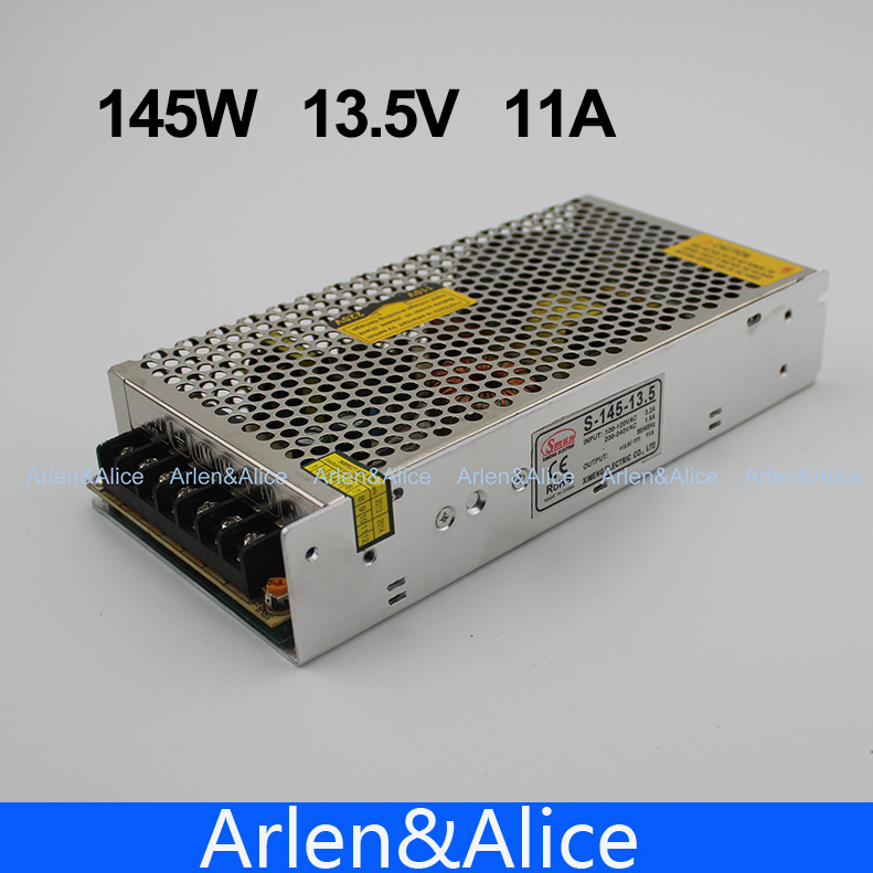 145W 13.5V 11A Single Output Switching power supply for LED Strip light AC to DC
