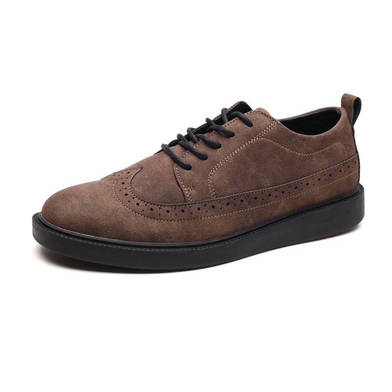 gris Printemps Chaussures Automne Casual Homme Cuir marron À Noir De Respirant Suédé Ngouxm Lacets En Main Sneakers Air Hommes Plein tHwSBAq4