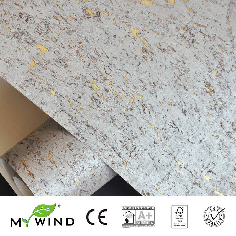2019 MY WIND Grey Gold Luxury Decoration 100 Natural Material Safety Innocuity 3D Wallpaper In Roll Decor European aristocracy in Wallpapers from Home Improvement