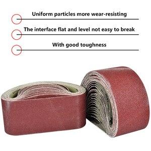 Image 2 - Abrasive Tool 533x75mm Sanding Belts 80 320 Grits Sandpaper Abrasive Bands for Sander Power Rotary Tools Dremel Accessories