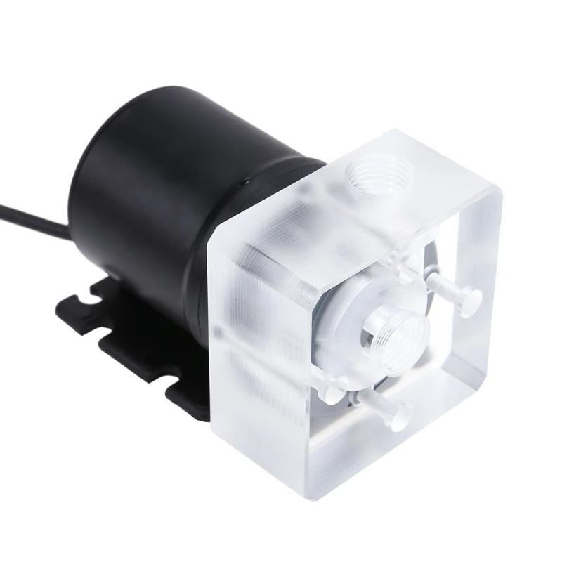 XHC8 G1/4 Inner Thread Mini Pump Water Cooling System DC 12V 9W Transparent Waterproof Pump 600L/h tank for PC Motorcycle