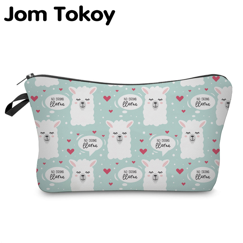 Jom Tokoy Cosmetic Organizer Bag Make Up Printing Llama Cosmetic Bag Fashion Women Brand Makeup Bag Hzb922