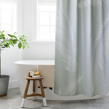 LIANGQI Imitation linen shower curtain Nordic bathroom partition Waterproof Thicken High quality Bathing tools Home Decoration