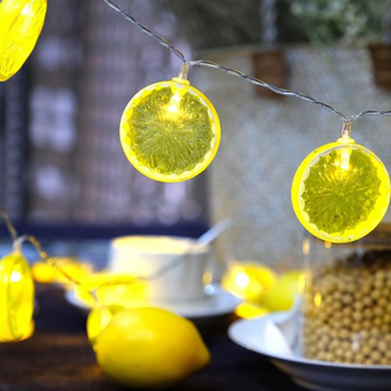 2018 Hot LED cordes personnalité citron lumières décoratives batterie Plug lumières lampes de poche fruits intérieur extérieur fête