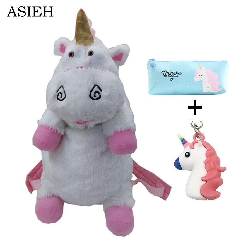 Plush Unicorns Children Backpacks Kindergarten Bitherday Gifts For Girls and Boys Cute Plush toys Bags Despicable Me Animal pack kids cartoon baby girls plush cotton school bags children stuffed plush toys backpack rucksack for kindergarten