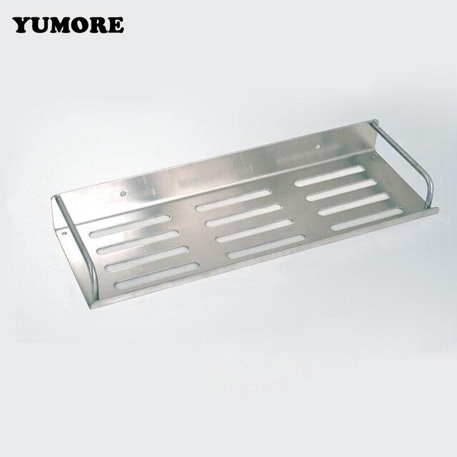 Yumore Stainless Steel Wall Mounted Shelves Single Tier Bathroom Shelf Shampoo Soap Storage Board