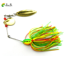 HENGJIA 1PCS 16.3G Spinner Bait Fishing Lure Spoon Fresh Water Shallow Water Bass Minnow Spinnerbait Lures SB001