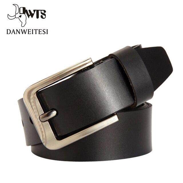 [DWTS] 2016 genuine Alloy Buckle cowskin man belt Luxury Brand man belts genuine leather belt Men casual waist belt  for men