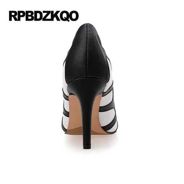 White Modern 2017 Pumps 12 44 3 Inch Ladies High Heels Shoes Big Size 4 34 23550fce5079