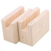2PCS 2x10CM Groove Wood Furniture Lifter Bed Sofa Table Risers Add 5cm BQLZR