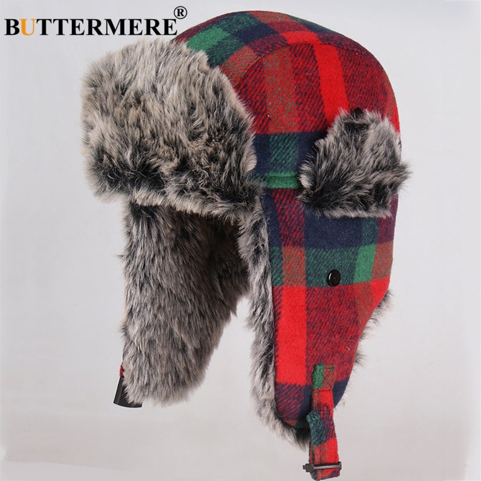 1fb3ba394a8bc8 Features: Winter Hats For Mens Bomber Hat / Warm Earflap Cap Windproof /  Russian Ushanka Hat