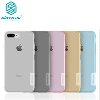 10pcs Lot Wholesale NILLKIN Ultra Thin Transparent Nature TPU Case For Apple Iphone 7 Plus 5