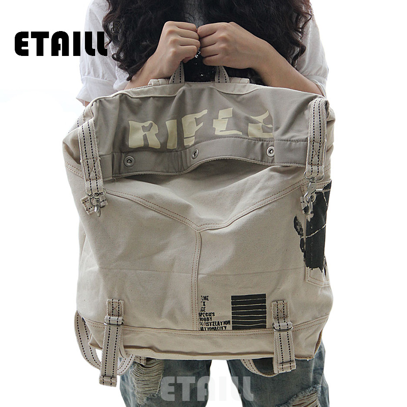 2016 Large Vintage Canvas Women Backpack Preppy Style School Bags Travel Backpack Brand Famous Men Sac