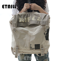 New 2016 Large Capacity Vintage Canvas Women Bag Shoulder Bag Backpack Preppy Style School Bags Travel