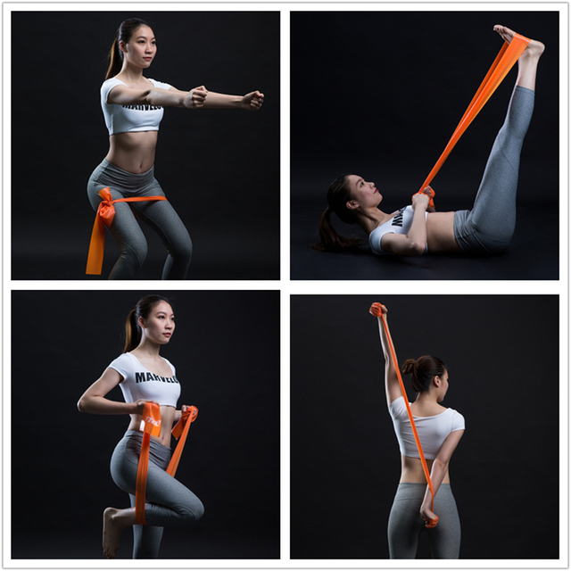Gym Fitness Equipment   Strength Training Latex Elastic Resistance Bands   Workout Cross fit Yoga