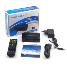 Original DVB-S2 Receptor de Satélite Freesat V7 HD Set Top Box con 1 unid Ayuda Wifi USB PowerVu Cccamd Newcamd Biss Clave Youporn