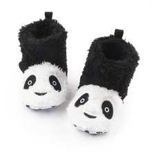 Новое Прибытие Зимние Пинетки Теплые Удобные Мягкой Подошвой Flock Pattern Panda Baby Сапоги Девочка Мальчик 0-12 Месяцев