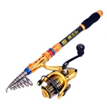 Fishing Rod Portable Telescopic Lure Spinning Fishing Rod Pole Ultra Light Sea Ocean Rod цена 2017