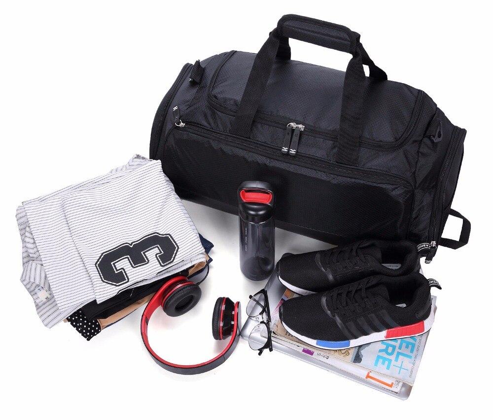 MIER Gym Bag with Shoe Compartment Men Travel Sports Duffel 55e3b979b6e11