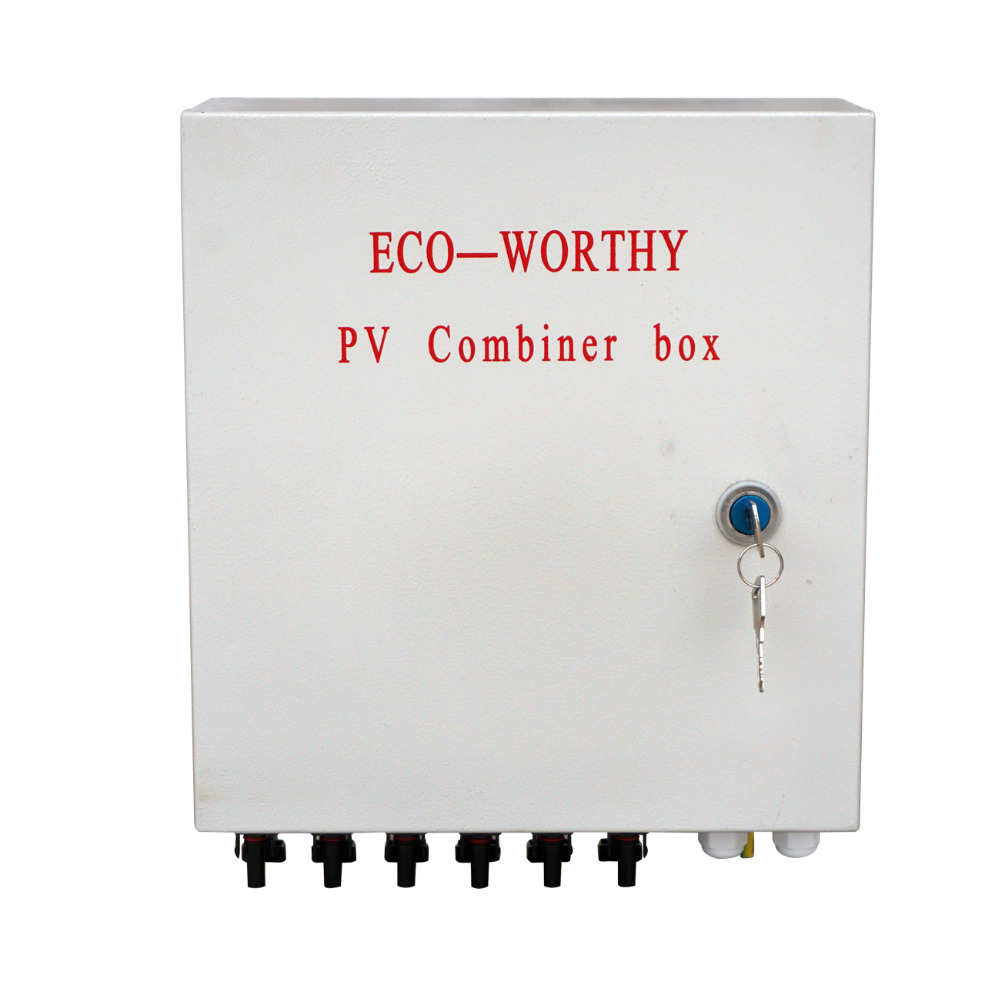 Photovoltaic Array Solar Pv Combiner Box 4 String Input Wiring Diagram 6 W Circuit Breakers Surge Lightning Protection