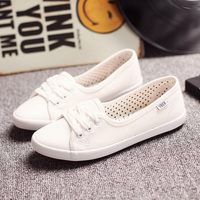Women Shoes Ballet Flats Loafers Casual Breathable Women Flats Slip On Fashion Canvas Shoes Women White