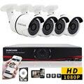 SUNCHAN 8CH Sistema de Câmera de Segurança CCTV Sistema De 4x1080 P Impermeável Ao Ar Livre Sistema de Vigilância Câmeras Seguridad Casa 1 TB